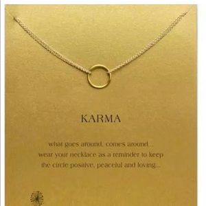 GOLD DIPPED MINIMALIST KARMA BEAUTIFUL I LOVE YOU